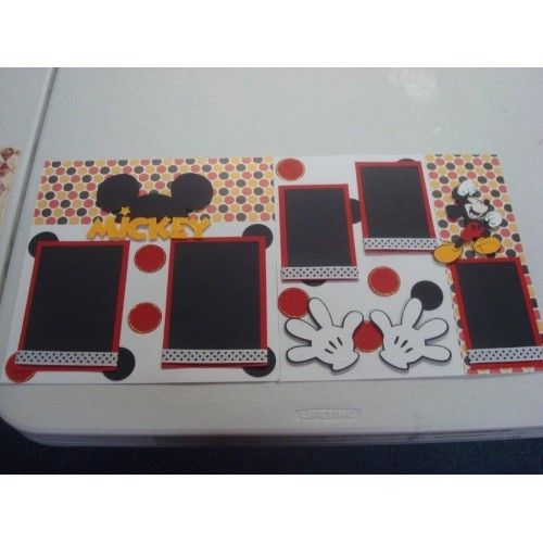 layout mickey mouse scrap book pages.