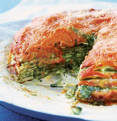Baked omelette stack