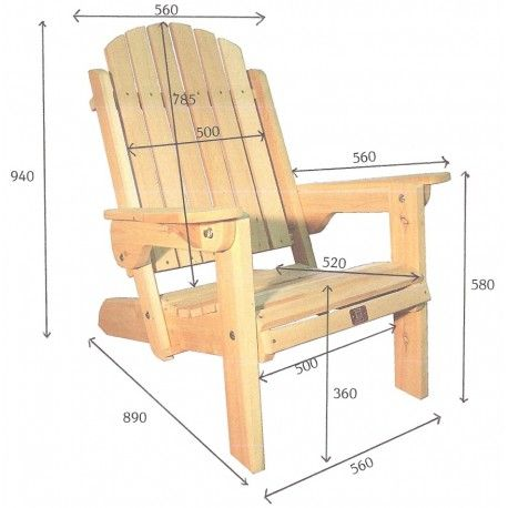 17 best ideas about fauteuil adirondack on pinterest - Plan salon de jardin en bois ...