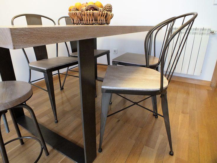 Comenzamos la semana con esta imagen que nos envian desde Madrid con nuestras sillas de hierro y madera decorando un comedor.  ¡Todos nuestros modelos en la web y el blog! www.fustaiferro.com fustaiferro.wordpress.com