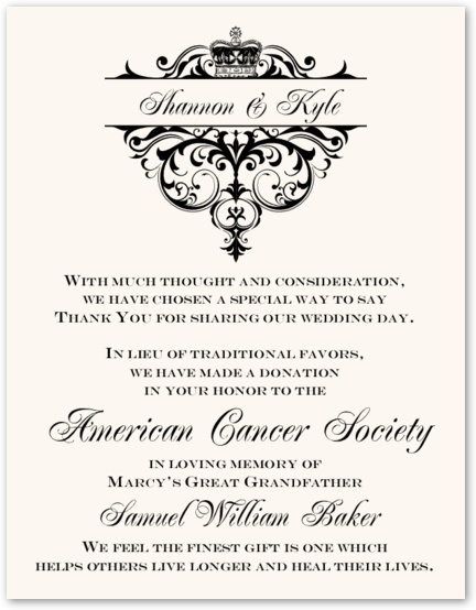 59 best Wedding Donation Cards images on Pinterest Charity - donation card template