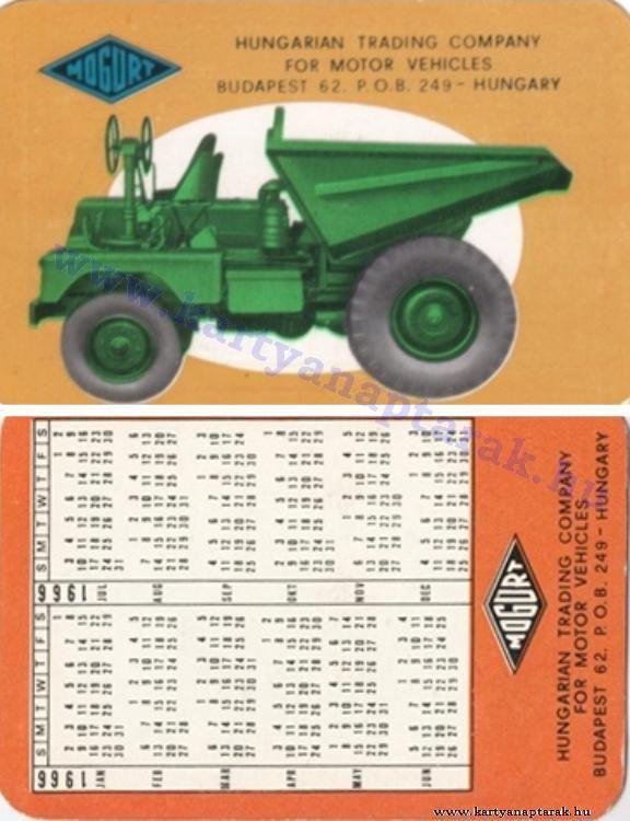 1966 - 1966_0102 - Régi magyar kártyanaptárak