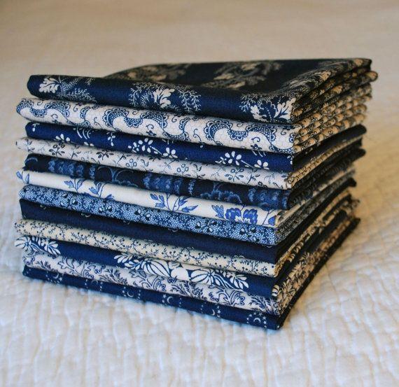 Civil War Indigos, Windham Fabrics and Blue Hill Fabrics (1800s reproductions)
