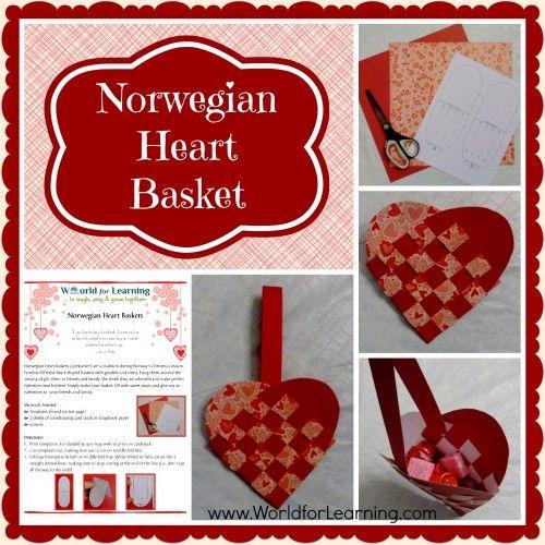 Norwegian Heart Basket Craft Tutorial ~ habe dies letztes Jahr mit Filz gemacht. Es war ein b …   – Crafts and more