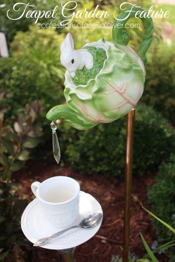 How to Make this Whimsical Teapot Garden Feature