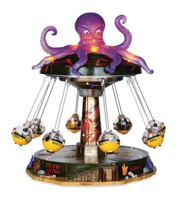 michaels halloween village lemax spooky town octo swing octopus seriously old style submarines