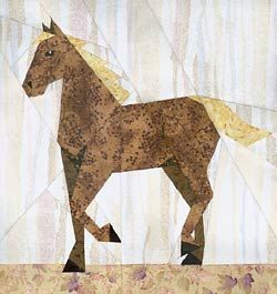 paper pieced blocks -Horse (or make it into a unicorn)