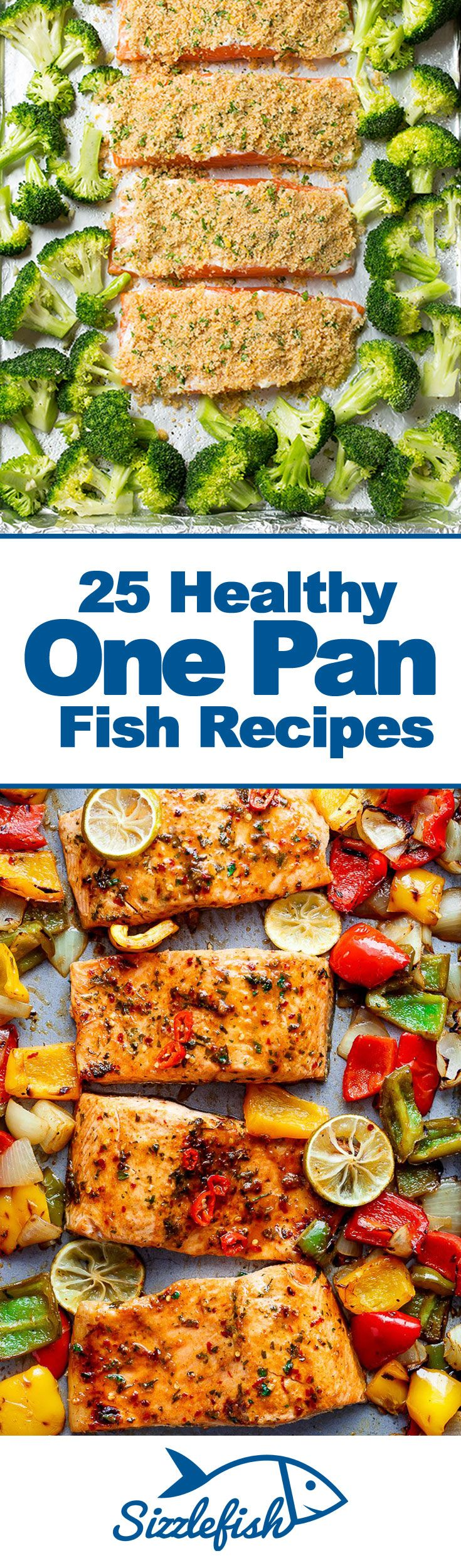 Easy to make, easy to clean up and an easy way to get a healthy and nutritious meal on the table - these 25 Healthy One Pan Fish Recipes are your secret to healthy eating success!