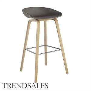 Trendyliving - Hay - About a stool - grå med ben i sæbebehandlet eg