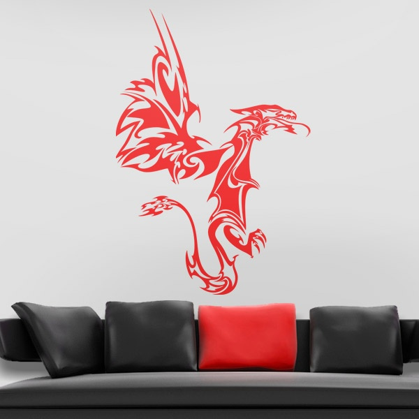 #autocollants #decalques #wallstickers #decals Dragon tribal - Tribal Dragon.