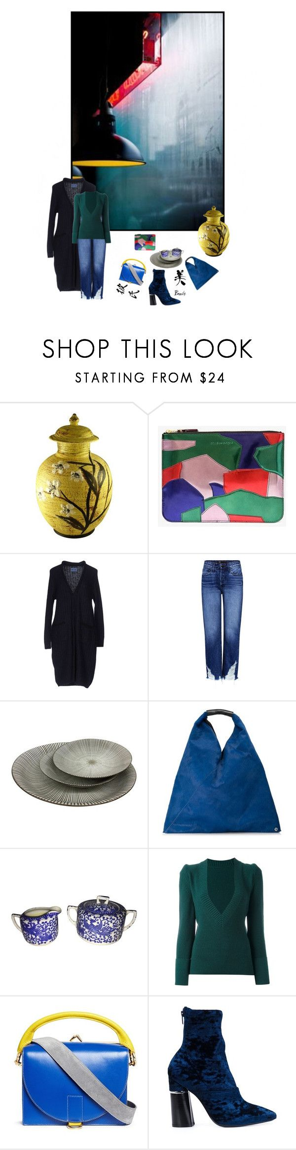 """""""Higher Ground"""" by sue-mes ❤ liked on Polyvore featuring Comme des Garçons, Blue Blue Japan, 3x1, MM6 Maison Margiela, Sacai and 3.1 Phillip Lim"""