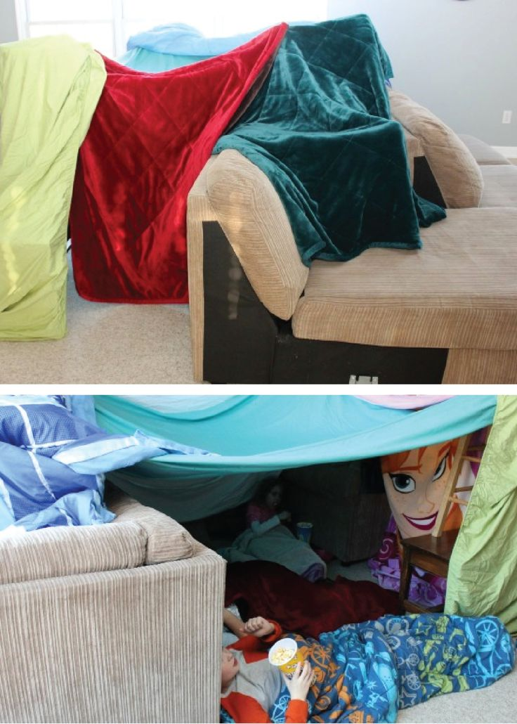how to make a tent out of blankets and pillows