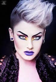Image result for 80's punk makeup
