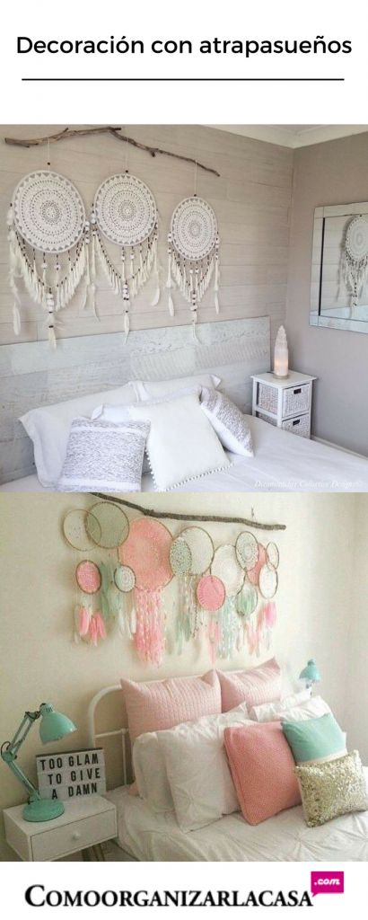 Decoración con atrapa sueños http://comoorganizarlacasa.com/decoracion-atrapa-suenos/