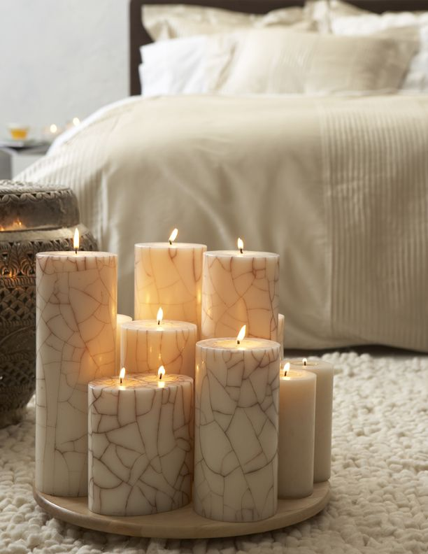 Beautiful Pillar Candles - by Blissliving Home