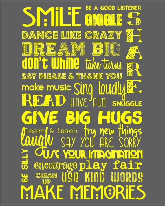 Rules for Kids - So cute!