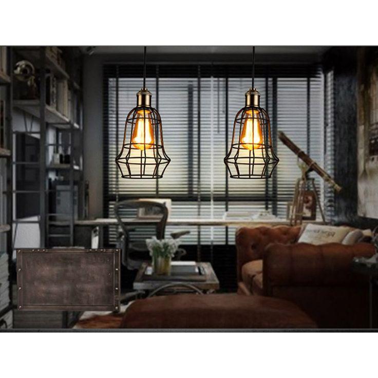 34.95$  Watch now - https://alitems.com/g/1e8d114494b01f4c715516525dc3e8/?i=5&ulp=https%3A%2F%2Fwww.aliexpress.com%2Fitem%2FVintage-Industrial-Loft-Wire-Cage-Hanging-Pendant-Lighting-E27-Edison-Bulb-AC110-240V-Bar-Cafe-Rustic%2F32789379723.html - Vintage Industrial Loft Wire Cage Hanging Pendant Lighting E27 Edison Bulb AC110-240V Bar Cafe Rustic Barn Metal Lamp 34.95$