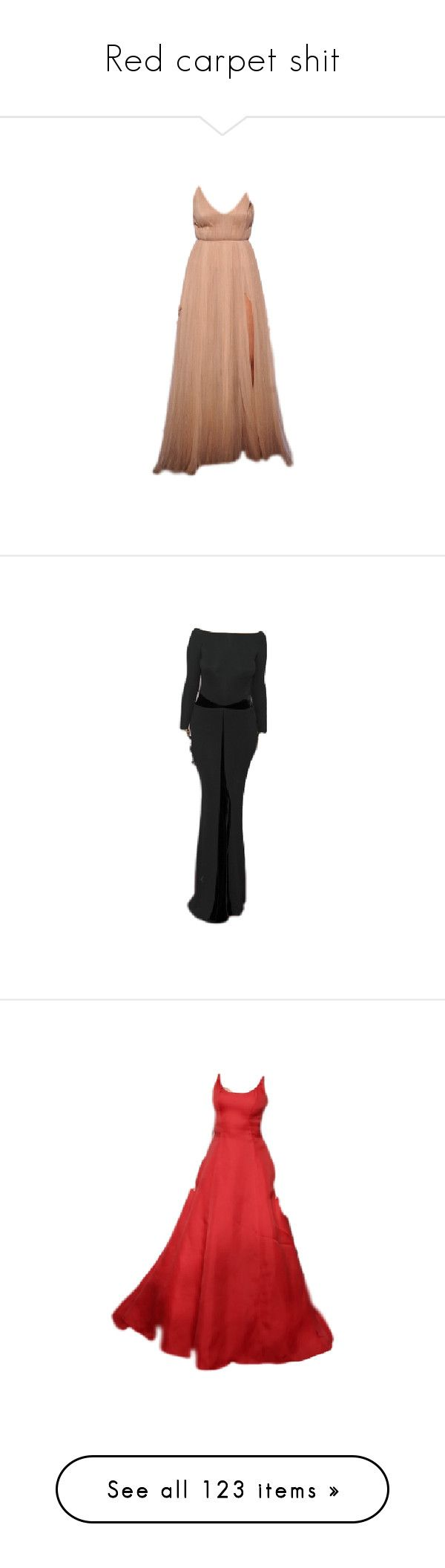 """""""Red carpet shit"""" by cmmpany ❤ liked on Polyvore featuring gown, dresses, gowns, long dresses, satinee, versace, black dress, gowns black, vintage dresses and aesthetic evening dresses"""