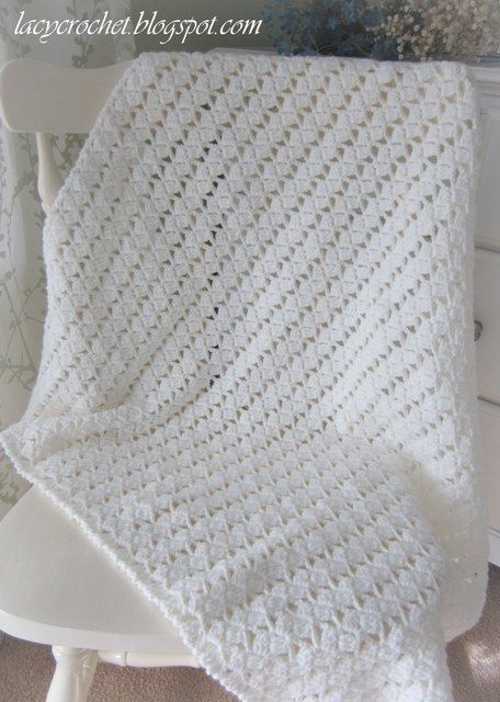 Lacy Crochet: Lacy Braids Baby Blanket, made with worsted ...
