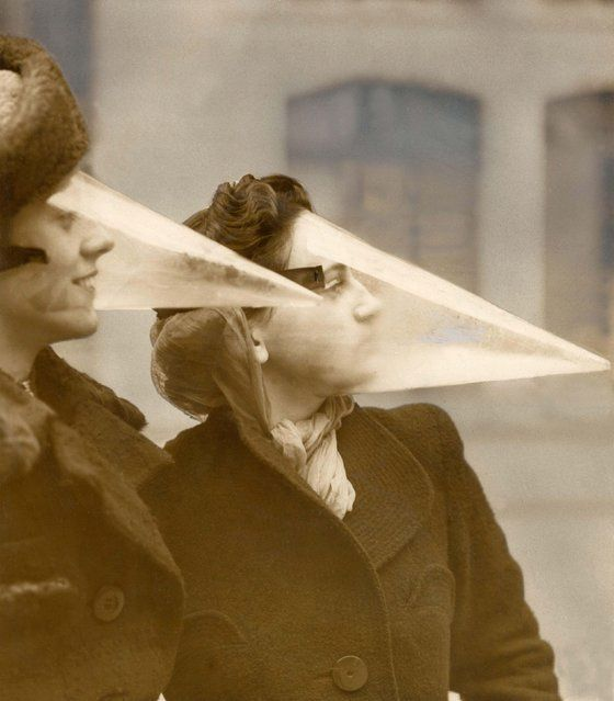 Plastic Face Protector (1939) Plastic face protection from snowstorms in Canada
