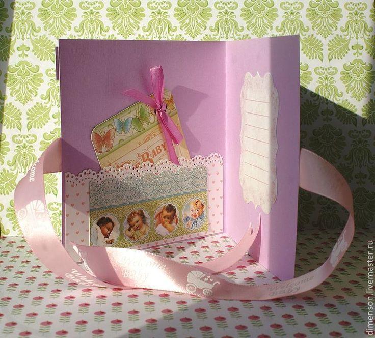 """Купить """"С рождением ДЕВОЧКИ!"""" - розовый, с рождением девочки, с новорожденной, с днем рождения девочки, малышка"""