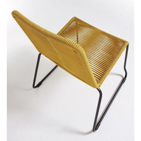 silla exterior Meagan amarilla | Tiendas On