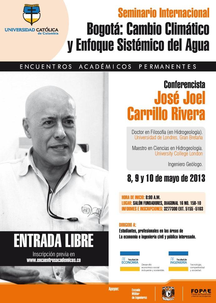 Mayo 8. Seminario Internacional: Cambio Climático y Enfoque Sistemático del Agua.