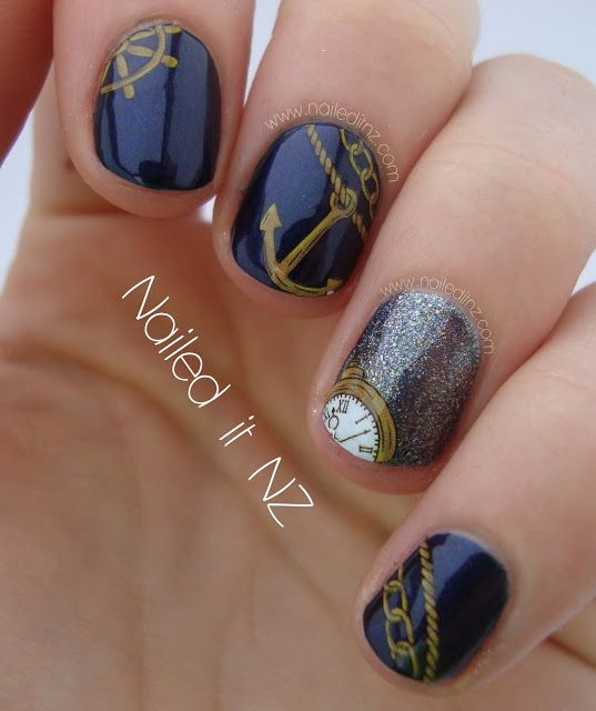 Nailed It NZ: Nautical nails - anchors & chains! - Best 25+ Nautical Nail Designs Ideas On Pinterest Sailor Nails