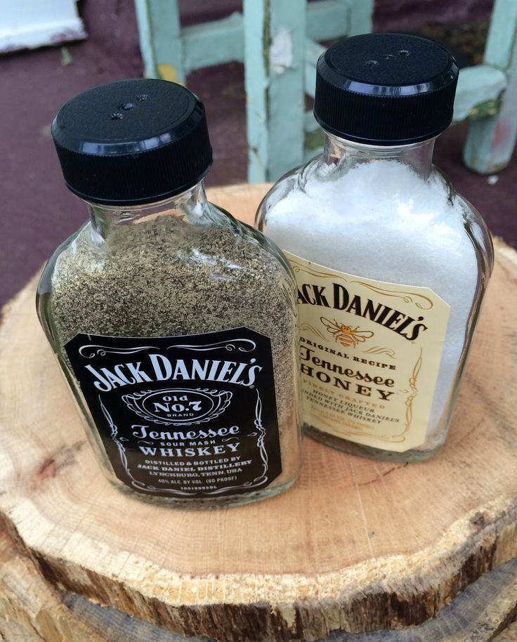 Rock Paper Feather: Father's Day DIY: Jack Daniel's Salt & Pepper Shakers
