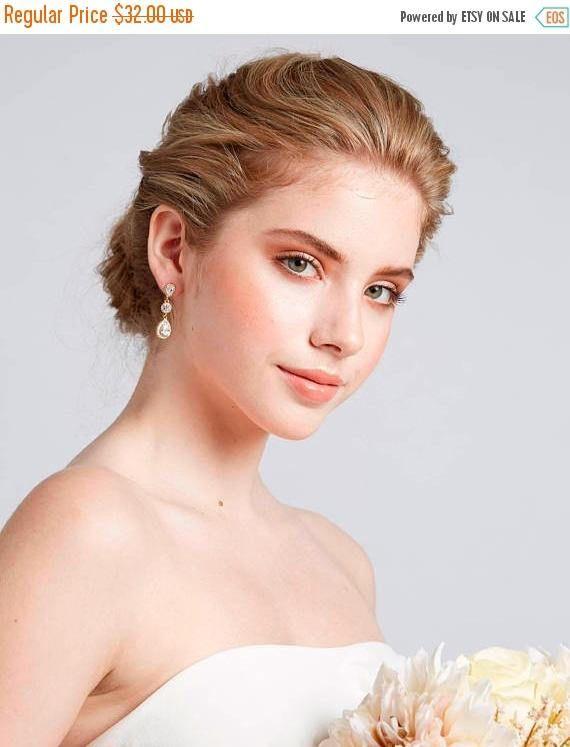 Bridesmaid Proposal Box  Rose Gold Drop Earrings Dangle