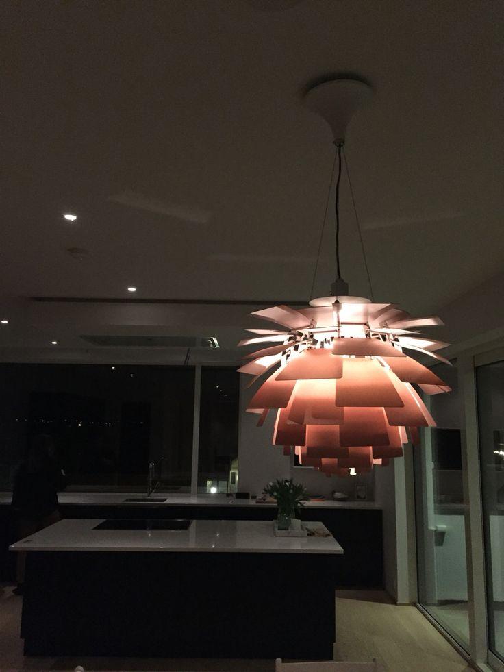 The lamp is up! PH konglen / PH kogle / Poul Henningsen