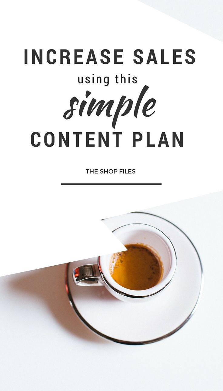 Use this simple content plan to increase sales for your online shop or etsy shop. Content Marketing Strategy / Marketing Strategy Templates / Retail Marketing Ideas / Creative Marketing Plan / Business Marketing Strategy