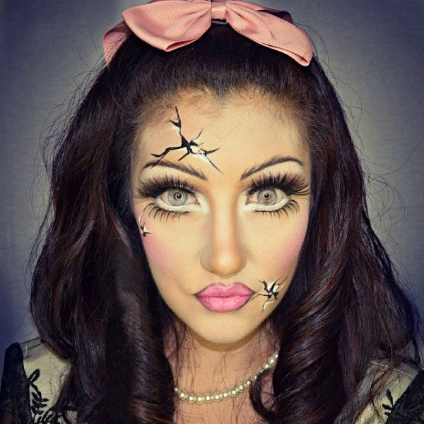 best 25 cracked doll makeup ideas on pinterest broken doll party costume creepy doll party. Black Bedroom Furniture Sets. Home Design Ideas