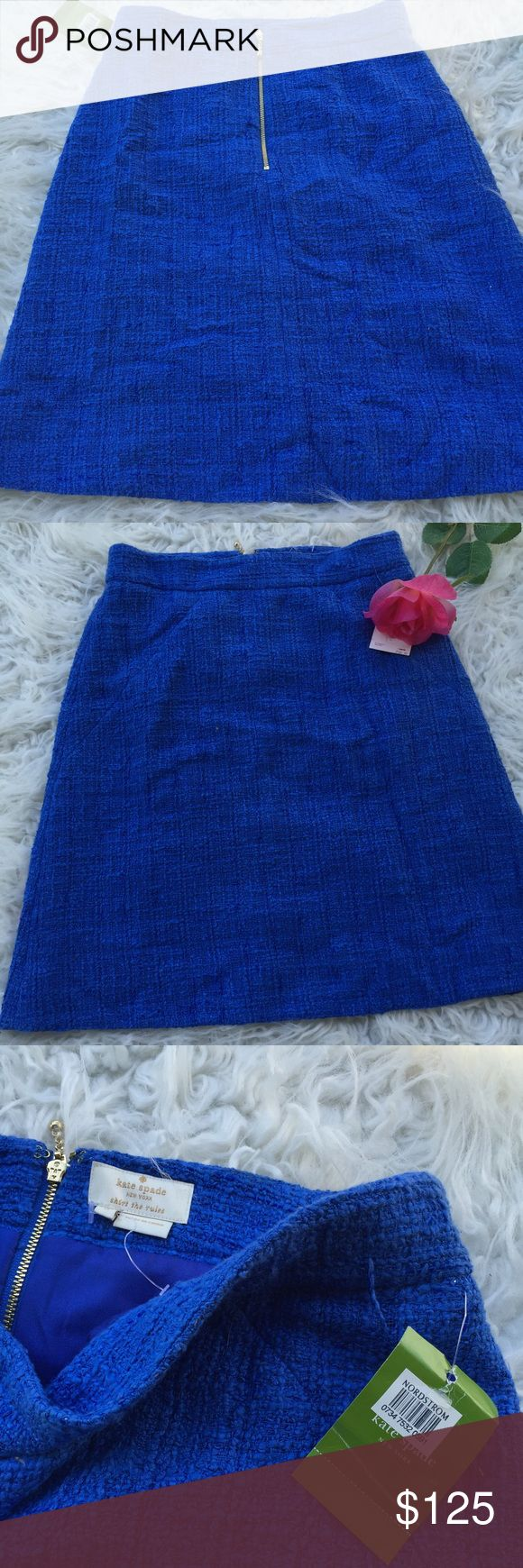 Kate spade Anite skirt pop of color Anite skirt pop of color Roy blue with tags from Nordstrom super for Sumer suggested retail price $328.00 kate spade Skirts Pencil