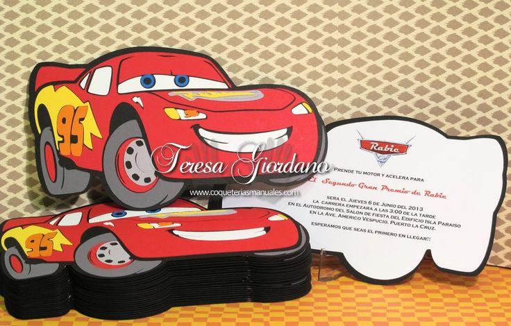 Invitaciones de Cars2 (cricut) www.coqueteriasmanuales.com