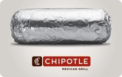 Get Chipotle discount gift cards.