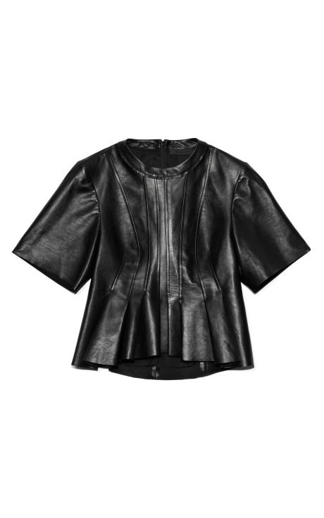 Shop Plonge Lamb Irregular Seam Pressed Top by Alexander Wang for Preorder on Moda Operandi