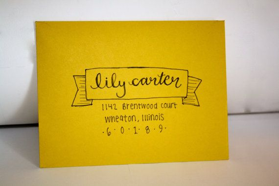 Hand Lettered Addressed Envelopes | Lily Style