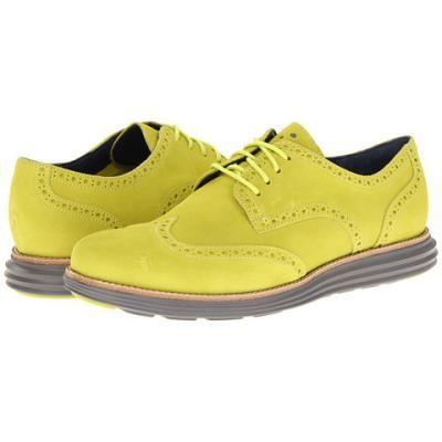 Cole Haan LunarGrand Wingtip Men's Lace Up Wing Tip Shoes - Volt  Suede/Ironstone