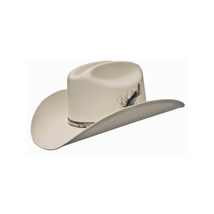 Cappello in paglia rigida superiore con piuma