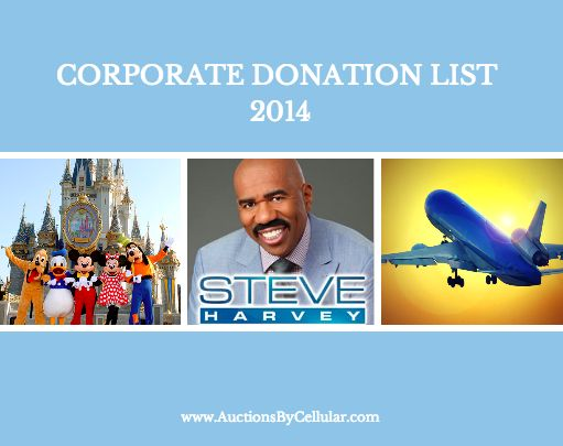 Corporate Donation List for Silent Auctions   2014