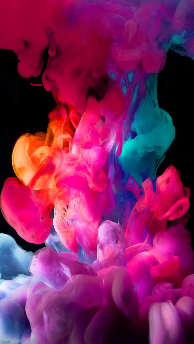 Iphone X Wallpaper Live Android Watercolor Abstract Picture Wallpaper Smoke