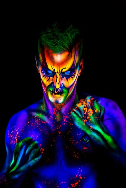 black light make up dallas face piant uv body art. Black Bedroom Furniture Sets. Home Design Ideas