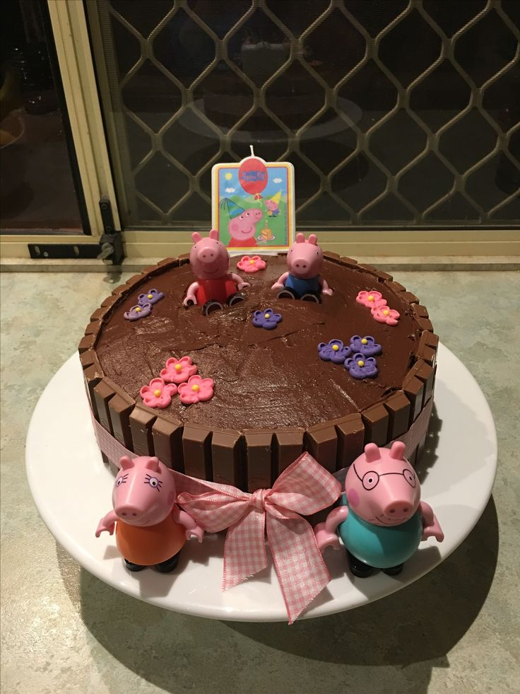 Peppa Pig cake made for my daughter's 2nd Birthday! 😊🐷