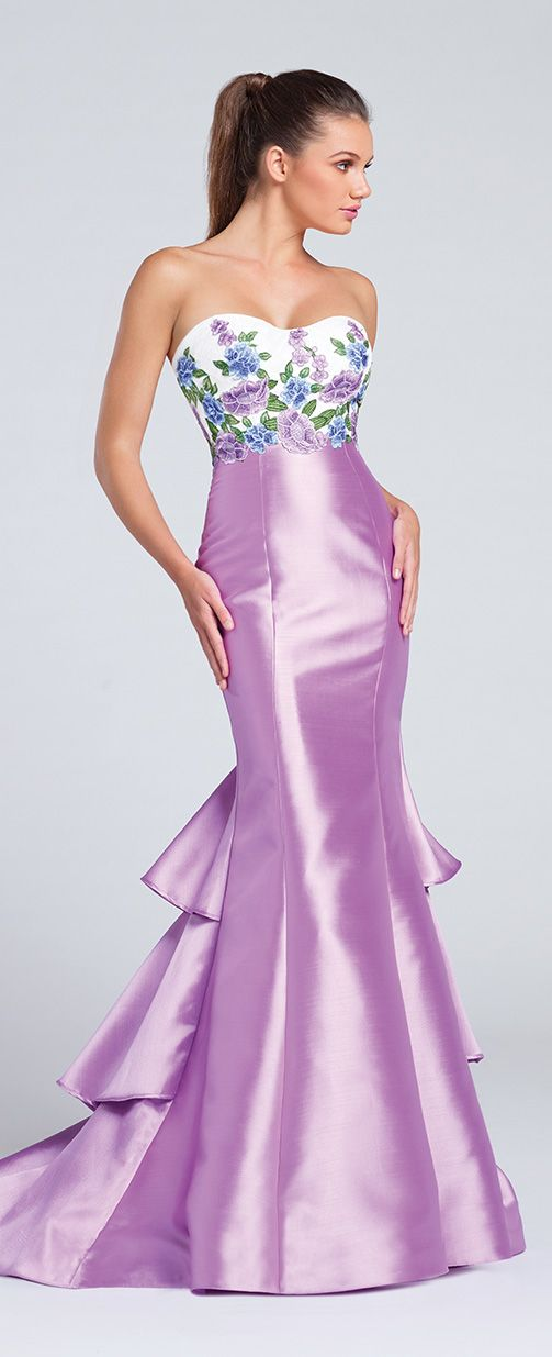 Prom Dresses 2017 - Ellie Wilde for Mon Cheri - Light Purple Floral Prom Dress - Style No. EW117012
