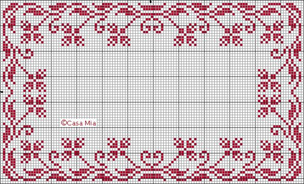 Floral border. Casamia in Italia. Free sewing pattern graph.