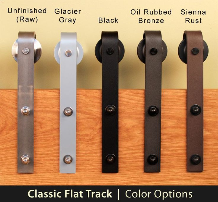 Real Sliding Hardware - Classic Flat Track Barn Door Hardware Kit, $353.00 (http://www.realslidinghardware.com/barn-door-hardware-flat-track-kit/)