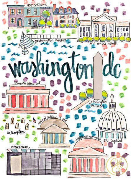 This is D.C. But I'd like to make a picture map of Ecuador! Love this idea! #picturemap #map #pictures