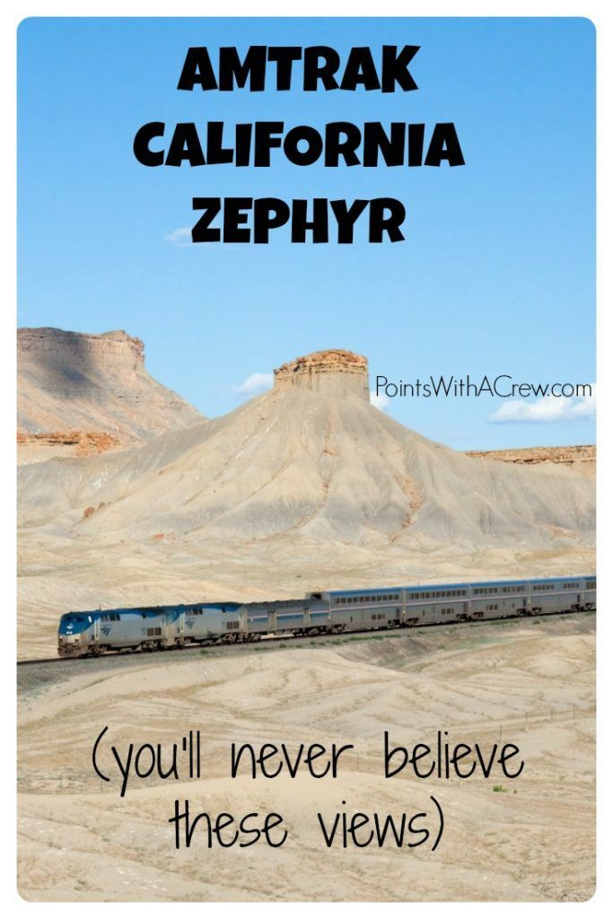 The Amtrak California Zephyr train trip goes from Chicago through Denver Colorado to San Francisco and the views are amazing