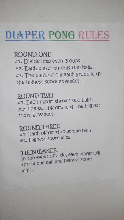 Diaper Pong Rules They Re Hard To Find Online So I Wanted To Share
